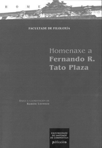Homenaxe a Fernando R. Tato - Webs persoais - Universidade de ...