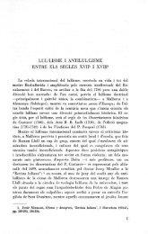LUL-LISME I ANTILUL-LISME ENTRE ELS SEGLES XVIP I XVIUfe