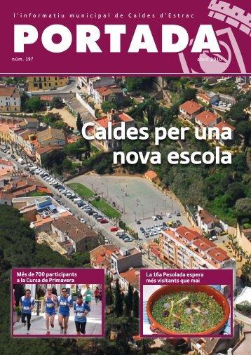 Portada 197. Abril 2010. - Ajuntament de Caldes d'Estrac