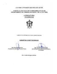 Garantías Constitucionales - Centro Universitario de los Altos