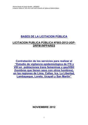 Bases de Licitación Pública - Inppares