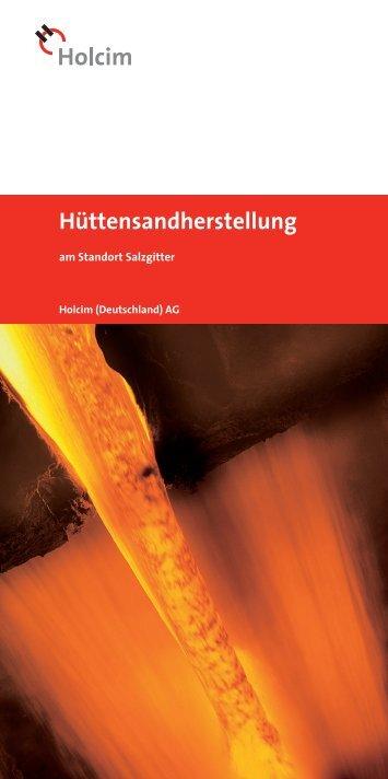 Holcim – Hüttensandherstellung am Standort Salzgitter