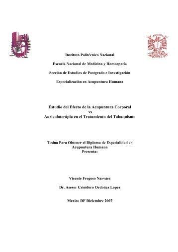 Estudio del Efecto de la Acupuntura Corporal vs Auriculoterápia en ...