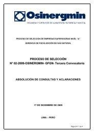 Absolucion de Consultas y Aclaraciones - Organismo Supervisor de ...