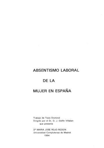 absentismo laboral dela mujer en espana - Biblioteca de la ...
