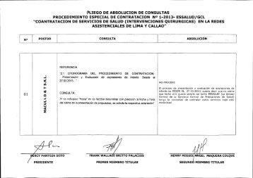 pliego de absolucion de consultas - EsSalud
