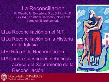 La Reconciliación - Fordham University