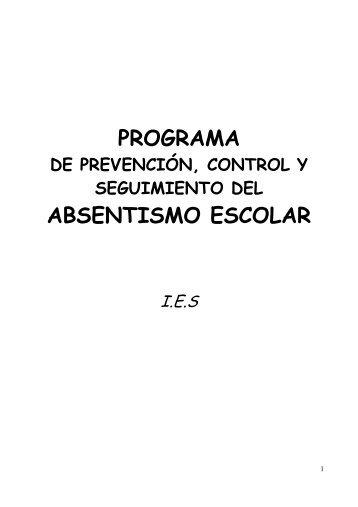 programa absentismo ies - Orientacion Andujar