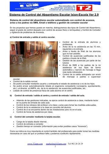 CONTROL DE ABSENTISMO ESCOLAR - de T2app.com