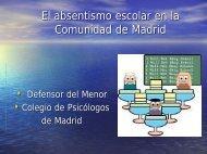 El absentismo escolar en la Comunidad de Madrid - Colegio Oficial ...