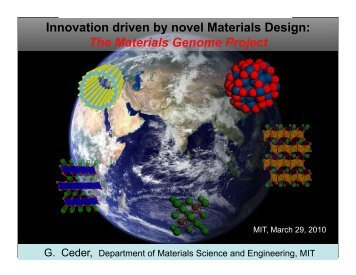 Innovation driven by novel Materials Design: The Materials Genome ...