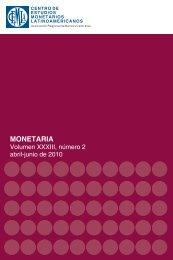 MONETARIA - Centro de Estudios Monetarios Latinoamericanos