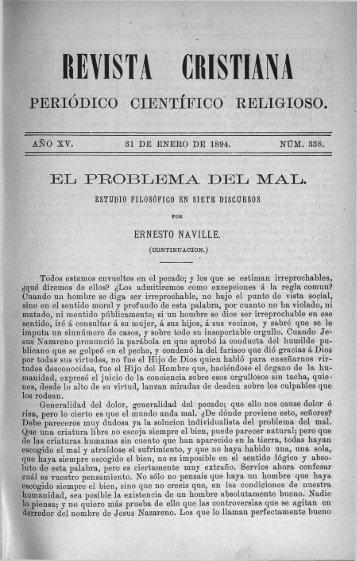 PERIÓDICO CIENTÍFICO RELIGIOSO. - Fundación Federico Fliedner