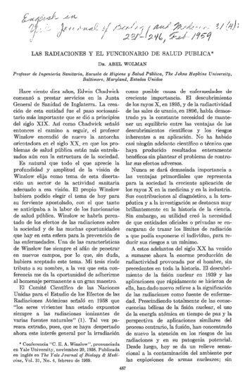 LAS RADIACIONES Y EL FUNCIONARIO DE SALUD ... - PAHO/WHO