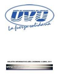 BOLETÍN INFORMATIVO AÑO 2 NÚMERO 4 ABRIL 2011 - Unión de ...
