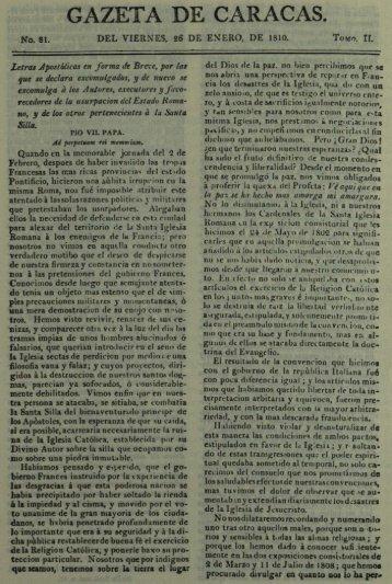 GAZETA DE CARACAS. - Saber UCAB