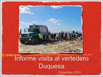 Informe visita al vertedero Duquesa - CEDAF
