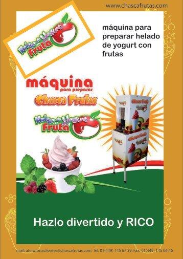 catalogo - Chasca Frutas, Chaska Frutas, Helados de Yogurt, nieves ...
