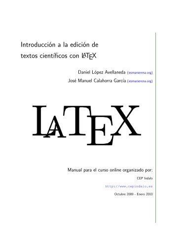 Introducción a la edición de textos científicos con LATEX