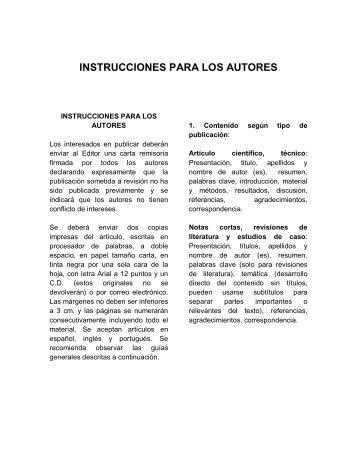 INSTRUCCIONES PARA LOS AUTORES - RECIA