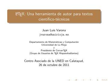 LaTeX: Una herramienta de autor para textos científico-técnicos