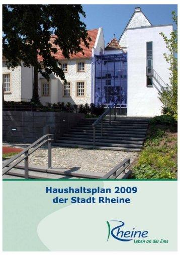 Haushaltsplan 2009 der Stadt Rheine