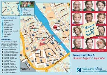 Innenstadtplan & Termine August / September - Rheine