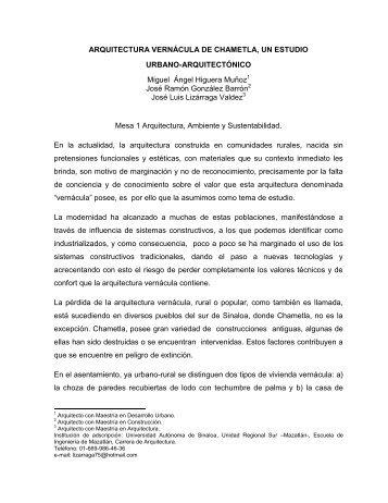 ARQUITECTURA VERNÁCULA DE CHAMETLA, UN ESTUDIO ...