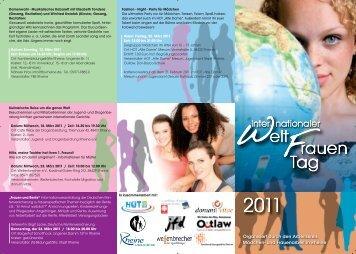 Der Flyer zum Internationalen Frauentag - Rheine