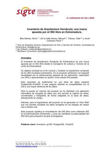 Inventario de Arquitectura Vernácula; una nueva apuesta por ... - UdG