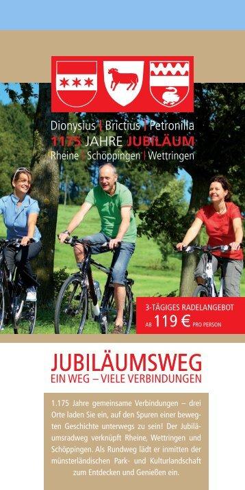 Pauschalangebote zum Jubiläumsweg - Rheine