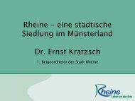 Rheine - eine städtische Siedlung im Münsterland Dr. Ernst Kratzsch ...