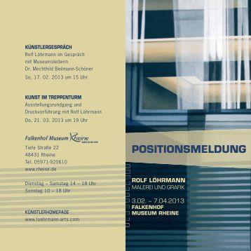 Einladungskarte zum Künstergespräch - Rheine