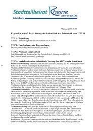 Ergebnisprotokoll der 4. Sitzung des Stadtteilbeirates ... - Rheine