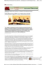 Schotthock begrüßt neue Sekundarschule - Rheine