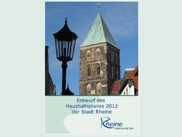 Präsentation zur Haushaltsrede des Stadtkämmerers - Rheine
