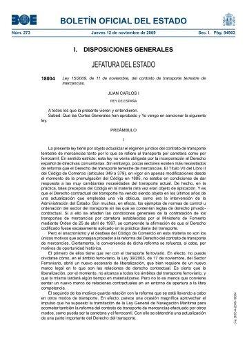 Disposición 18004 del BOE núm. 273 de 2009 - Cámara Oficial de ...
