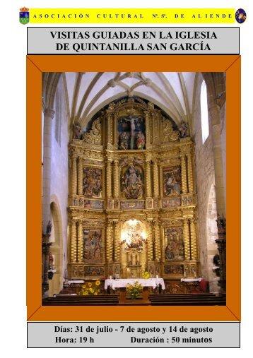 Guía de la Iglesia de Nª.Sª. de Aliende Quintanilla San García Burgos