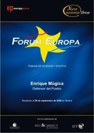 Enrique Múgica - Nueva Economía Fórum