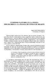 UTOPISMO PASTORIL EN LA POESÍA DIECIOCHESCA: LA ... - RUA