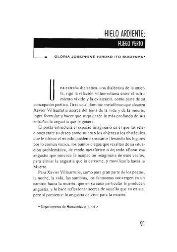 Hielo ardiente; fuego y yerto / Gloria Josephine Hiroko Ita ... - UAM