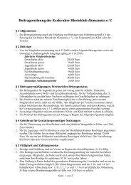Beitragsordnung - Karlsruher Rheinklub Alemannia eV
