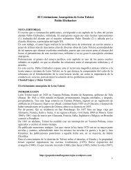 El Cristianismo Anarquista de León Tolstoi Pablo Eltzbacher
