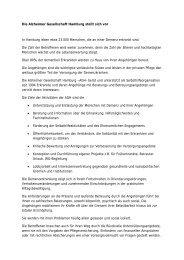 Die Alzheimer Gesellschaft Hamburg stellt sich vor In Hamburg ...