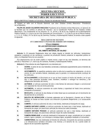 Reglamento de Tránsito en Carreteras y Puentes de Jurisdicción ...
