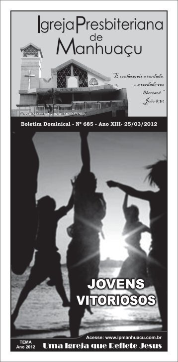 boletim 685.cdr - Igreja Presbiteriana de Manhuaçu