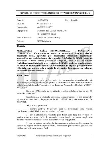 Microsoft Word - 18821083\252.doc - Secretaria de Estado de ...
