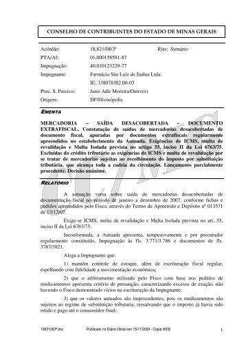 Microsoft Word - 18821083\252.doc - Secretaria de Estado de ...