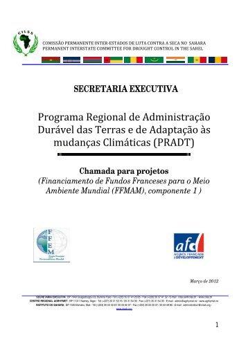 Programa Regional de Administração Durável das Terras e ... - CILSS