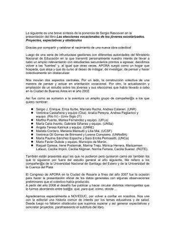 Presentacion 23-07-10 - APORA